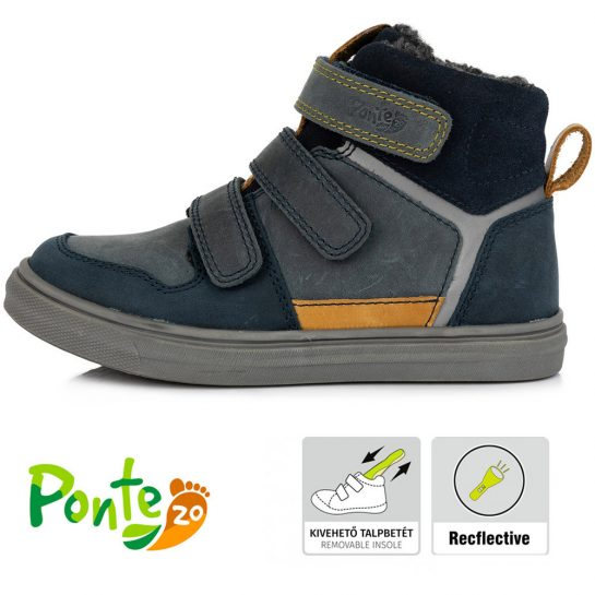 Supinált szürke bélelt cipő