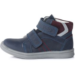 Supinált kék-bordó cipő