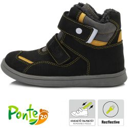 Supinált fekete bélelt cipő