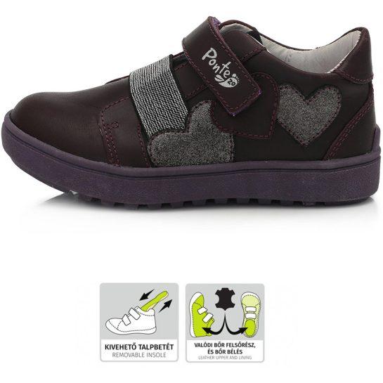 Supinált szíves padlizsán cipő