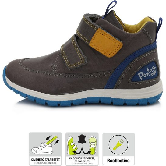 Supinált szürke-kék cipő