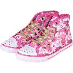 Flamingós vászoncipő