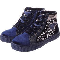 Strasszos sötétkék cipő