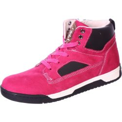 Málna-fekete cipő