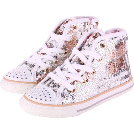 Flitteres fehér cipő