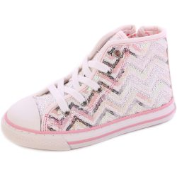 Cikk-cakkos flitteres cipő