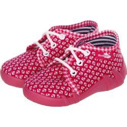 Vasmacskás pink fűzős cipő