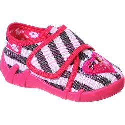 Tündéres szürke-pink kockás cipő