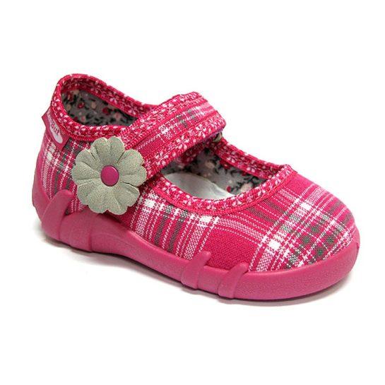 Pink kockás félcipő