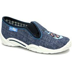 Vasmacskás farmerkék cipő