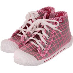 Kockás szürke cipő