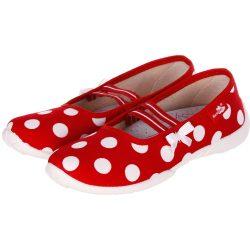 Pöttyös piros félcipő