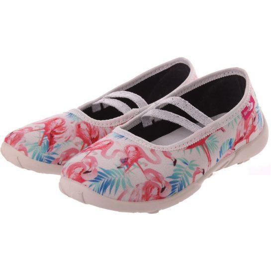 Flamingós fehér cipő