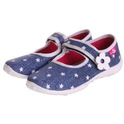 Fehér-csillagos farmerkék cipő