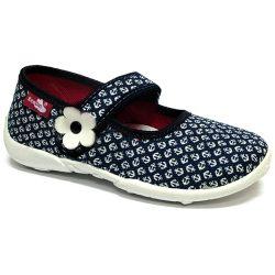 Vasmacskás fehér-virágos cipő