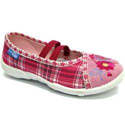 Virágos-kockás cipő