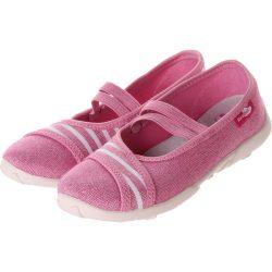 Csíkos-rózsaszín cipő