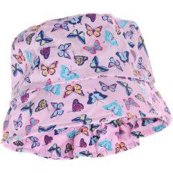Pillangós rózsaszín kalap