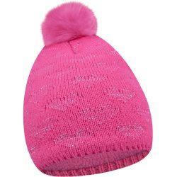 Pomponos pink sapka