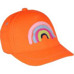 Szivárványos neon-narancs baseball sapka