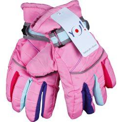 Színes-ujjú rózsaszín síkesztyű