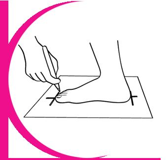 gyerek láb mérése